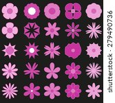 abstract set  flowers background | Shutterstock .eps vector #279490736
