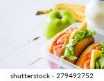 lunch box   sandwiches  milk ...   Shutterstock . vector #279492752