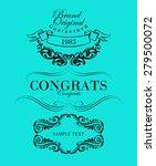 big set of calligraphic... | Shutterstock .eps vector #279500072