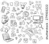 hand drawn illustration set of... | Shutterstock . vector #279503222