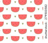 pattern with cute cartoon... | Shutterstock .eps vector #279503582