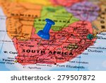 Map of south africa with a blue ...