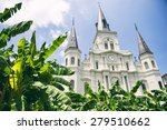 new orleans famous church... | Shutterstock . vector #279510662