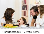 beautiful young father mom... | Shutterstock . vector #279514298