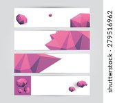 set of modern pink vector... | Shutterstock .eps vector #279516962
