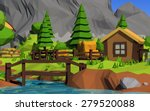 low poly island | Shutterstock . vector #279520088