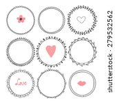 romantic collection with hand... | Shutterstock .eps vector #279532562