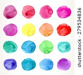 hand drawn colorful watercolor...   Shutterstock .eps vector #279534836