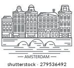 old amsterdam holland houses on ... | Shutterstock .eps vector #279536492