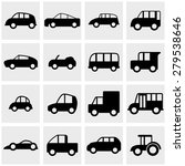car vector icons set on gray | Shutterstock .eps vector #279538646