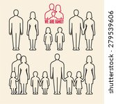 linear family icons. people... | Shutterstock .eps vector #279539606