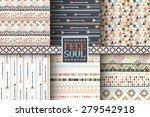set of 6 ethnic seamless... | Shutterstock .eps vector #279542918