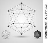 frame volumetric geometric... | Shutterstock .eps vector #279544262