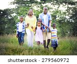 african family happiness... | Shutterstock . vector #279560972