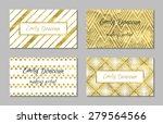 set of gold business card... | Shutterstock .eps vector #279564566