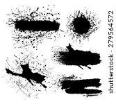 vector set of splash black... | Shutterstock .eps vector #279564572