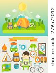 summer holiday and travel...   Shutterstock .eps vector #279572012