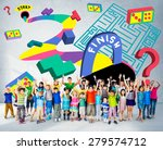 kids maze puzzle game fun... | Shutterstock . vector #279574712
