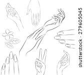 manicure hands. vector...   Shutterstock .eps vector #279605045