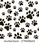 Animal  Vector Pattern Of Paw...