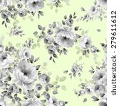 seamless pattern and watercolor ... | Shutterstock . vector #279611612