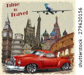 vintage travel poster. | Shutterstock .eps vector #279620156