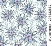 seamless floral pattern with... | Shutterstock .eps vector #279623852