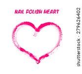 nail polish drawing heart ... | Shutterstock . vector #279626402