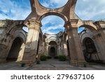 cathedral de santiago  ruin of... | Shutterstock . vector #279637106