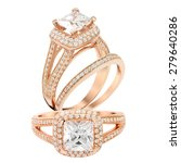 Diamond Wedding Rose Gold...
