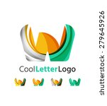 set of abstract w letter... | Shutterstock .eps vector #279645926