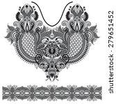 neckline grey embroidery... | Shutterstock . vector #279651452