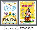 card with a wish  for you  good ... | Shutterstock .eps vector #279653825
