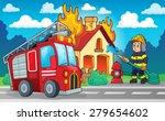 firefighter theme image 4  ... | Shutterstock .eps vector #279654602