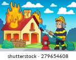 firefighter theme image 2  ... | Shutterstock .eps vector #279654608