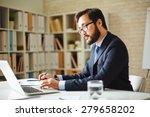 male office worker browsing in... | Shutterstock . vector #279658202