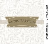 retro frame with textured... | Shutterstock .eps vector #279660305