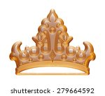 golden crown for a king | Shutterstock . vector #279664592