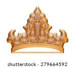 golden crown for a king | Shutterstock . vector #279664592