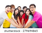 group of young people with... | Shutterstock . vector #279694865
