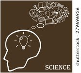 human head and icons of science.... | Shutterstock .eps vector #279696926