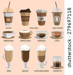 coffee icons set. buttons for... | Shutterstock .eps vector #279697118