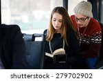 transport. people in the bus.... | Shutterstock . vector #279702902