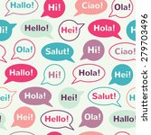 speech bubbles with greetings... | Shutterstock . vector #279703496