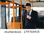 man talking on cell phone ... | Shutterstock . vector #279703925