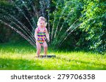 child playing with garden... | Shutterstock . vector #279706358
