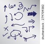 arrow hand drawn concept. vector | Shutterstock .eps vector #279709382