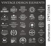 premium quality labels set.... | Shutterstock .eps vector #279711065
