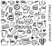 coffee and tea cups    sweets   ... | Shutterstock .eps vector #279719462