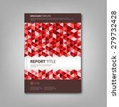 brochures book with red... | Shutterstock .eps vector #279732428